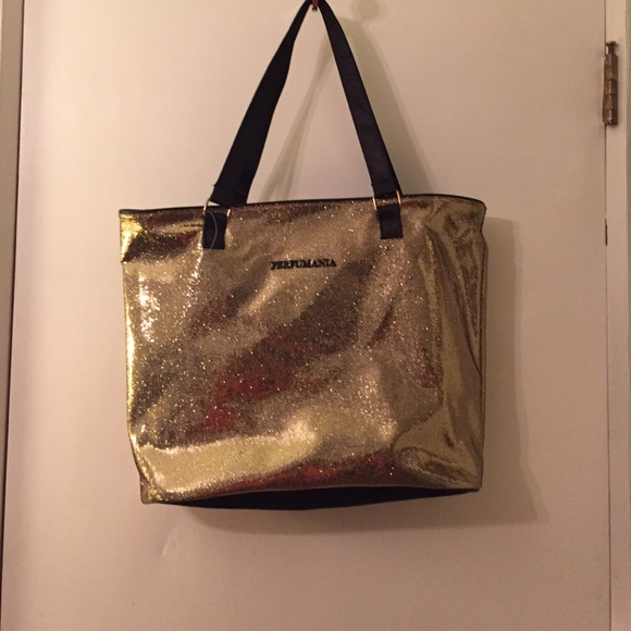 Perfumania Handbags - Golden sparkly tote bag new w/o tags
