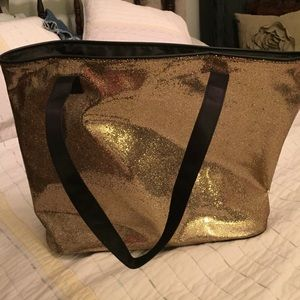 Perfumania Bags - Golden sparkly tote bag new w/o tags