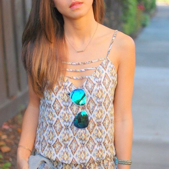 Urban Outfitters Pants - Like NEW Urban Outfitters printed lattice rompers