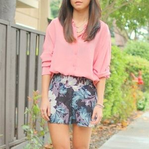 Urban Outfitters Shorts - Like NEW Kimchi Blue blue floral skorts