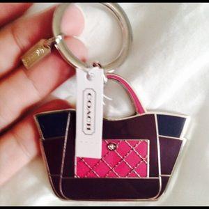 "Coach Accessories - Coach ""Parker Enamel Handbag"" keychain"