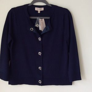 Philosophy Sweaters - NWT Navy Philosophy Sweater w. Toggle Closure