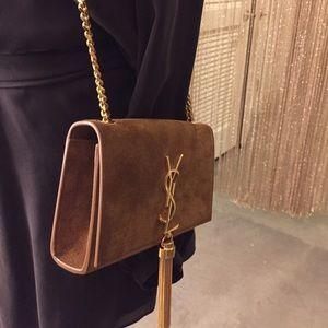 2a077924e5 Saint Laurent Bags - SOLD!! YSL Brown Suede Tassel Monogram Crossbody