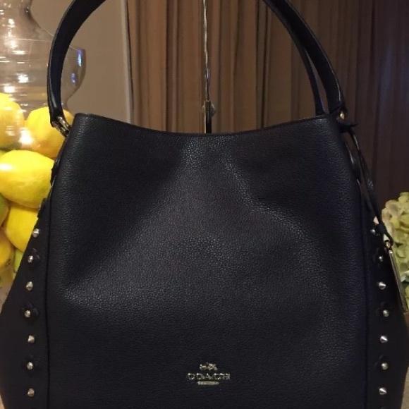 f66d83398b SOLD OUT Coach Edie 37700 Floral Rivets bag