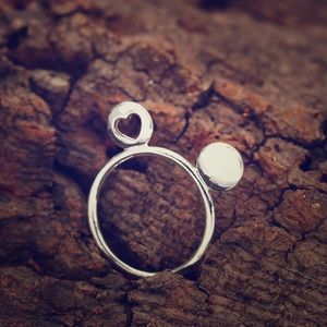 ✨Brand New✨cute bijou mouse ear hart ring