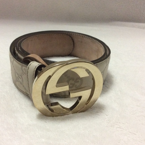 748f3ebe11a Gucci Accessories - Gucci Guccissima Belt with Interlocking G Buckle
