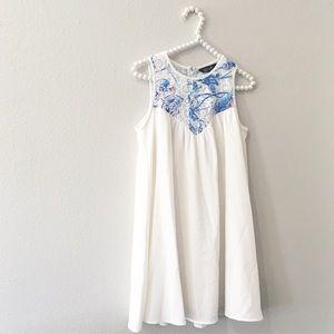 Elliatt White Tie Dye Lace Dress