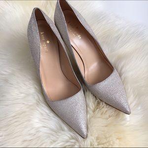 Kate Spade Silver Glitter Pumps