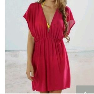 Other - Dark pink swim cover-up