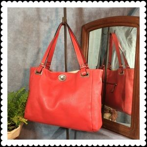 💥SALE 👜 Boutique Red Leather Tote