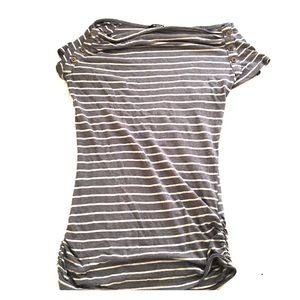Short Sleeved Slightly Slouchy Boatneck T-shirt