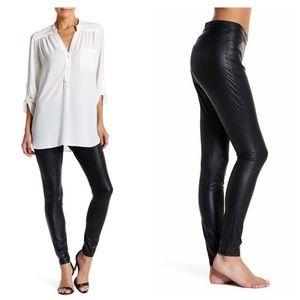 💝 Black Leather leggings D6