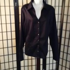 Coldwater creek black blouse