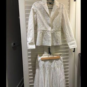 Blumarine Dresses & Skirts - Blumarine Eyelet Lace Jacket/Skirt