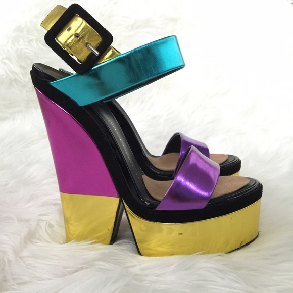 Giuseppe Zanotti Colorblock Platform Sandals countdown package cheap online outlet fast delivery geniue stockist cheap price very cheap online clearance from china 4aome7M