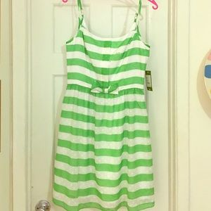 Lilly Pulitzer Green Stripe Dress Size 8