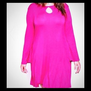 Pink swing dress - never worn.