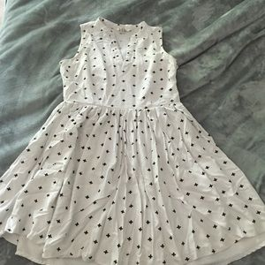Bb Dakota white dress with +'s
