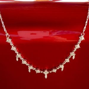 Cartier Jewelry - Antique styled 14K WG  1.5CTW Diamond necklace NEW
