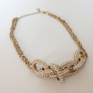 Gold sparkly link necklace