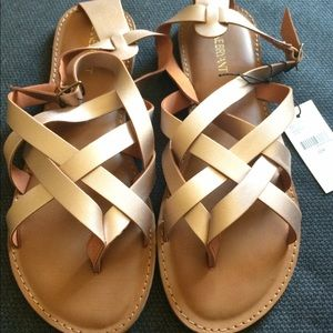 Lane Bryant rose gold sandals
