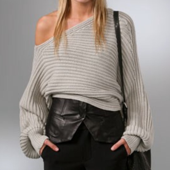 Alexander Wang Asymmetrical cropped sweater