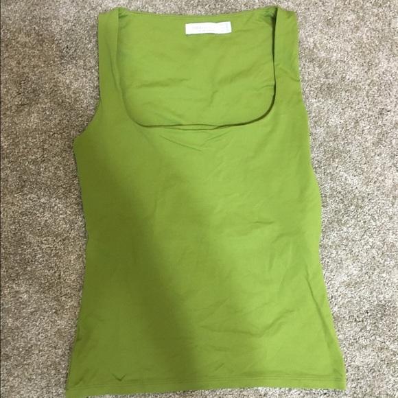 7c30bcdf Zara green square neck tank. M_57b09e2c2ba50a9b6d058bfb