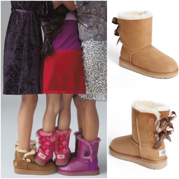3a840f1efad Ugg, toddler, bailey bow boots, size 8, chestnut
