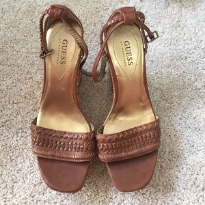 Guess by Marciano Shoes - Guess wedge brown sandals