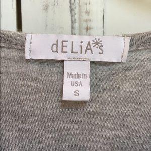 dELiA*s Tops - Gray and Blue Crop Top