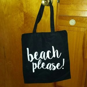 Handbags - NEW Beach Please! Black tote bag.