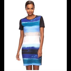 Reed  Dresses & Skirts - Reed Watercolor Striped Fitted Dress NWT XS Left