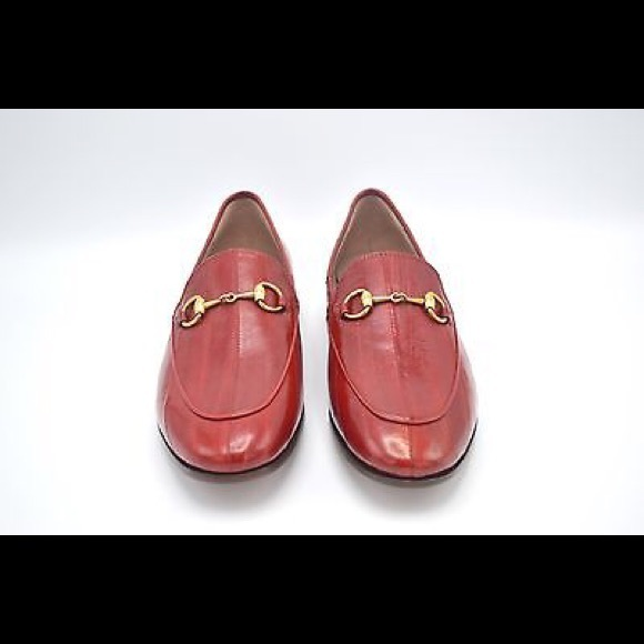 ae8fe0361 Gucci Shoes | Women Jordaan Eel Loafer Red Leather Shoe | Poshmark
