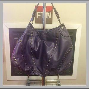 Shoedazzle Handbags - Dark Purple Shoulder Bag w/ Studs