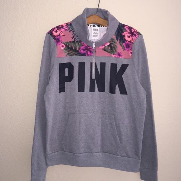 23% off PINK Victoria's Secret Tops - PINK Perfect Quarter Zip ...