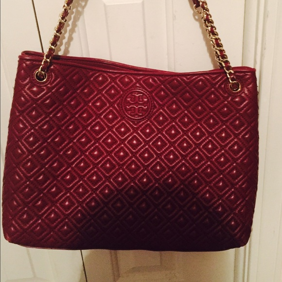 Tory Burch Bags Marion Quilted Centerzip Tote Poshmark