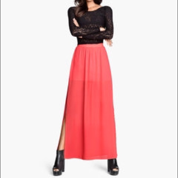 50% off Divided Dresses & Skirts - H&M Neon Pink Maxi Skirt from ...