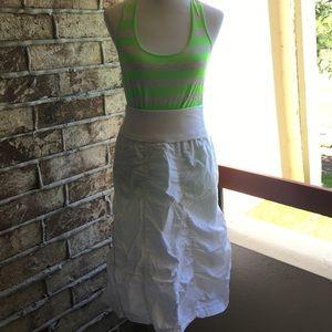 White parachute style skirt
