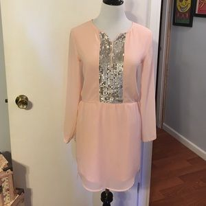 ruby & bloom Dresses & Skirts - Ruby & Bloom pink dress w/silver sequins.
