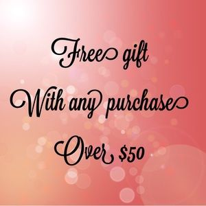 Free gift with $50 purchase