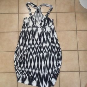 H&M Black and white dress