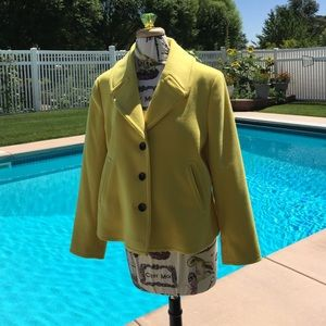 Evon- Picone Jackets & Blazers - Evan Picone Yellow Swing Coat