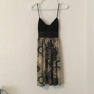 City Triangles Dresses & Skirts - Black and Tan mini dress