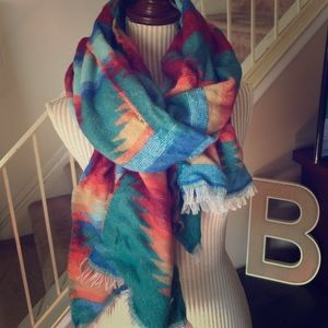 Accessories - NWOT Aztec Tribal Blanket Scarf