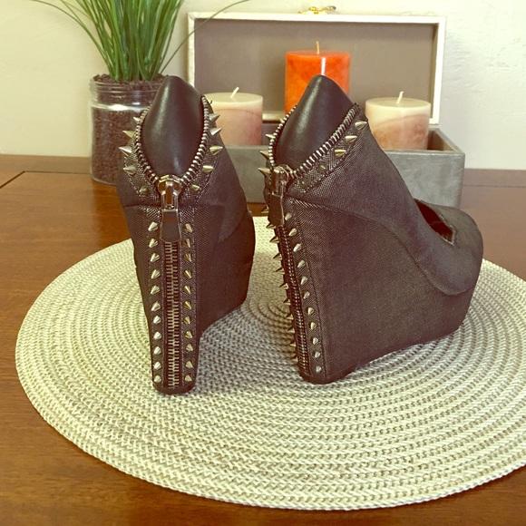 Gianna Bini Shoes Silver Black