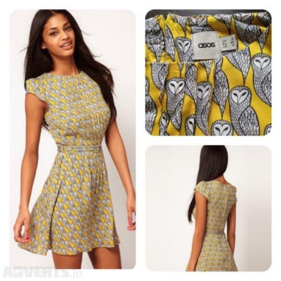 Asos yellow skaters dress pattern