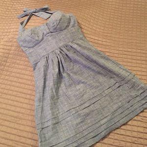 Denim short dress