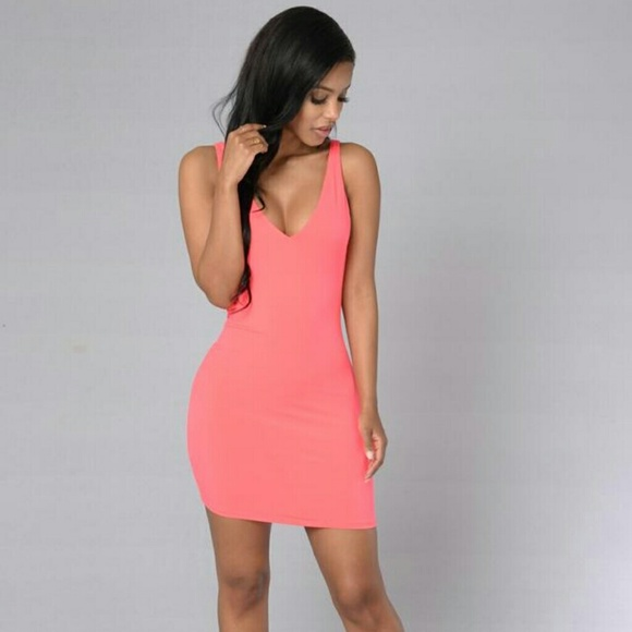025a9bdcca1e Fashion Nova Dresses | Hot Coral Dress | Poshmark