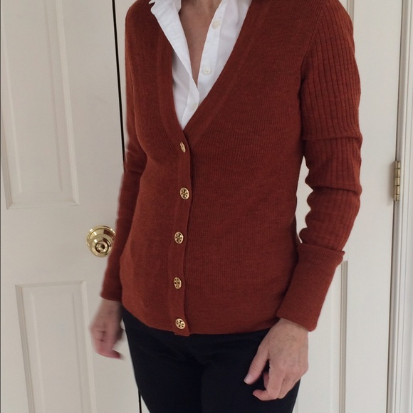 72% off Tory Burch Sweaters - TORY BURCH rust-colored wool ...