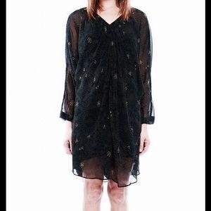 W118 Walter Baker Sheer Black Dress